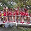 Các bé tham gia thi Erobic của trường